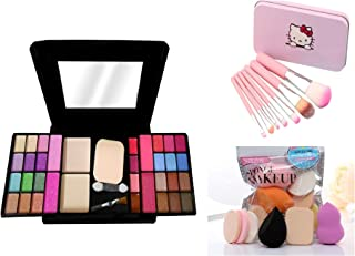 MY TYA Fashion Makeup Kit for Girls + Premium Hello Kitty Makeup Brushes + 6 Piece Makeup Sponges
