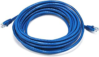 (1) - Monoprice 6.1m 24AWG Cat6 550MHz UTP Ethernet Bare Copper Network Cable - Blue