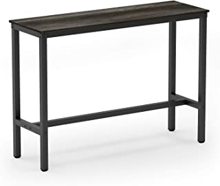 Teraves Bar Table with Solid Metal Frame,Counter Height Table Kitchen Bar Table for Dining Room,Living Room (47.24
