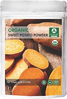 Naturevibe Botanicals Organic Sweet Potato Powder 4oz, Ipomoea Batatas | Non-GMO and Gluten Free Ipomoea Batatas | Non-GMO and Gluten Free | Supports Digestion and Weight Loss …