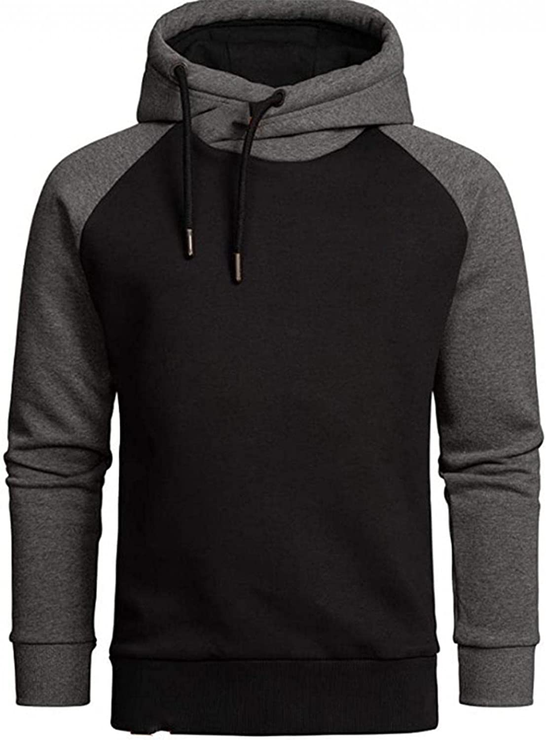 Hoodies for Men Men's Solid Color Casual Cotton Long Sleeve Fashion Sports Pullover Top Mature Fashion Hoodies Sweatshirts