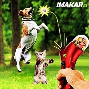 IMAKAR® Lanceur de Croquette Chien & Chat. Ce propulseur de Friandise, est le jouet parfait pour votre chat ou votre chien.