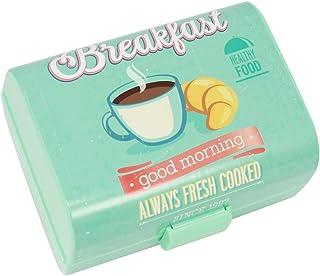 """COM-FOUR® Panier à petit-déjeuner vintage""""Petit-déjeuner"""" - Boîte à lunch à 3 compartiments - Boîte à petit-déjeuner 17 x ..."""