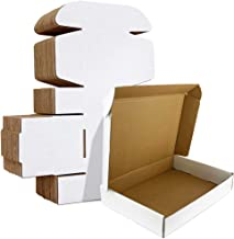 HORLIMER 11x8x2 inches Shipping Boxes Set of 25, White Corrugated Cardboard Box Literature Mailer