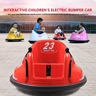 Darkduke Ride On Bumper Car DIY Race 6V Kids Toy Electric Ride On Bumper Car Vehicle Remote Control 360 Spin for Boys Girls Toddlers Aged 1.5+ (Red)