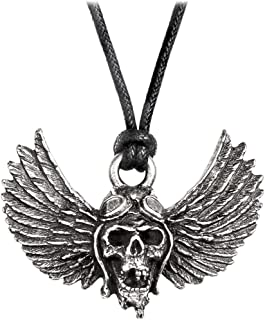 Alchemy Gothic Officially Licensed Airbourne Winged Skull Necklace