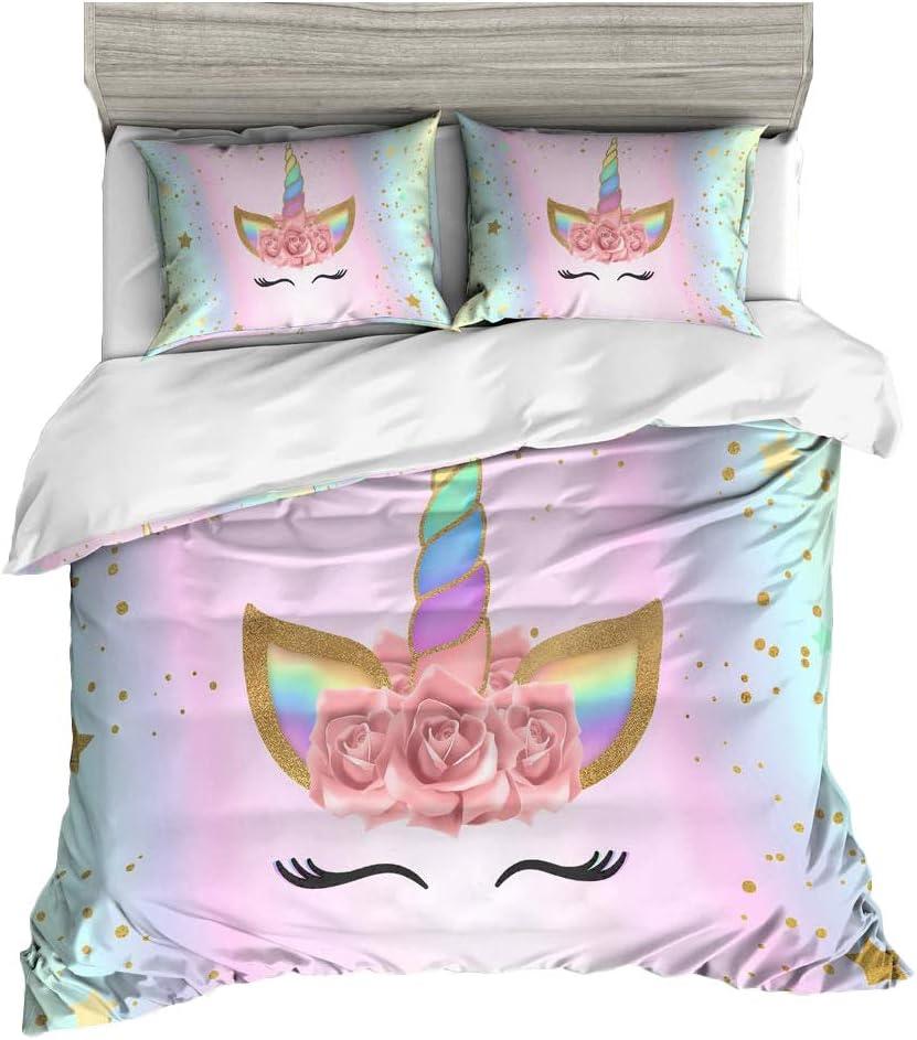 ADASMILE A S Unicorn Bedding for Cover Duvet High order Pillowca unisex Kids and