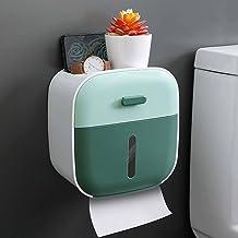 WC-rolhouder, zelfklevend waterdicht, wandmontage, badkamer, keukenpapierhouder-groen