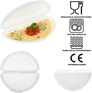 Recipiente Cuece Huevos Microondas | Alternativa al Sarten para Tortillas | Microwave Egg, Omelette Maker | Estuche Vapor Microondas, Ideal para Vegetales | Tortillas Francesas Saludables y Rápidas