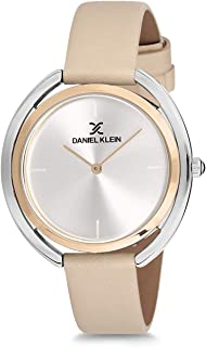 Daniel Klein Womens Quartz Watch, Analog Display and Leather Strap DK12197-6