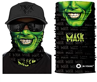 M-YOUNG 3D Face Sun Mask, Neck Gaiter, Headwear, Magic Scarf, Balaclava, Bandana, Headband for Fishing, Hunting, Yard Work,Motorcycling,Skiing,Hiking and UV Sun Dust Wind Protection