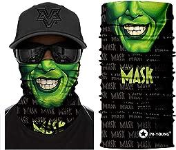 M-YOUNG 3D Skull Face Sun Mask, Neck Gaiter, Headwear, Magic Scarf, Balaclava, Bandana, Headband for Fishing, Hunting, Yard Work,Motorcycling,Skiing,Hiking and UV Sun Dust Wind Protection (AC340)