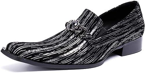 zapatos para Hombre Casuales, de Cuero, Rock Singer Bar Dress For Formal, Negocio, Boda, Informal, Oficina, Fiesta, Tamaño 37 a 46