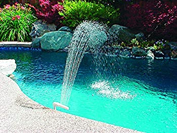 Poolmaster 54507 Spa and Swimming Waterfall Fountain for Pools with 1.5-Inch Threaded Return Fitting Medium Multicolor