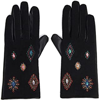 Desigual Women's Gloves_JULIY TRIBU HIBR Cold Weather, red, One Size (Pack of 2)