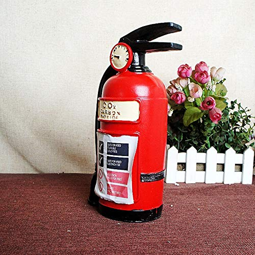 SAYTAY Piggy Bank Unique Resin Fire Extinguisher Coin Bank, as Vintage Ornaments Gift Crafts (Red)