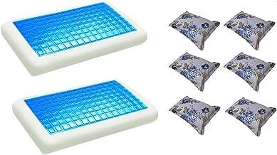 موون مخدة جل الطبية الباردة قطعتين مقاس 70x40 سم مع غطاء وسادة فارغ مقاس 75x50 سم، ستة قطع ، KPCM-008