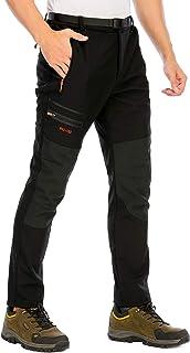 DAFENP Pantaloni Trekking Sci Uomo Invernali Pantaloni da Lavoro Termici Impermeabile Pantaloni Neve Softshell Montagna Es...