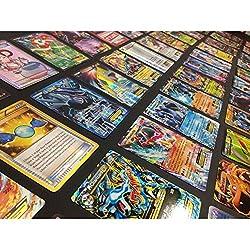 commercial Pokemon CCG: 100 Rare Cards, COM / UNC, Holo  Guaranteed EX, Mega or Full Art 100 pokemon packs