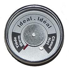 Brinkmann Upright Smoker Temperature Gauge All-In-One Round W/ tabs 072-0006-0