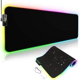 Tronsmart Spire Gaming Mauspad, XXL Extra Groß, Beleuchtete LED Effekte, Wasserfest, rutschfest, Gamer Pad mit USB Hinterg...