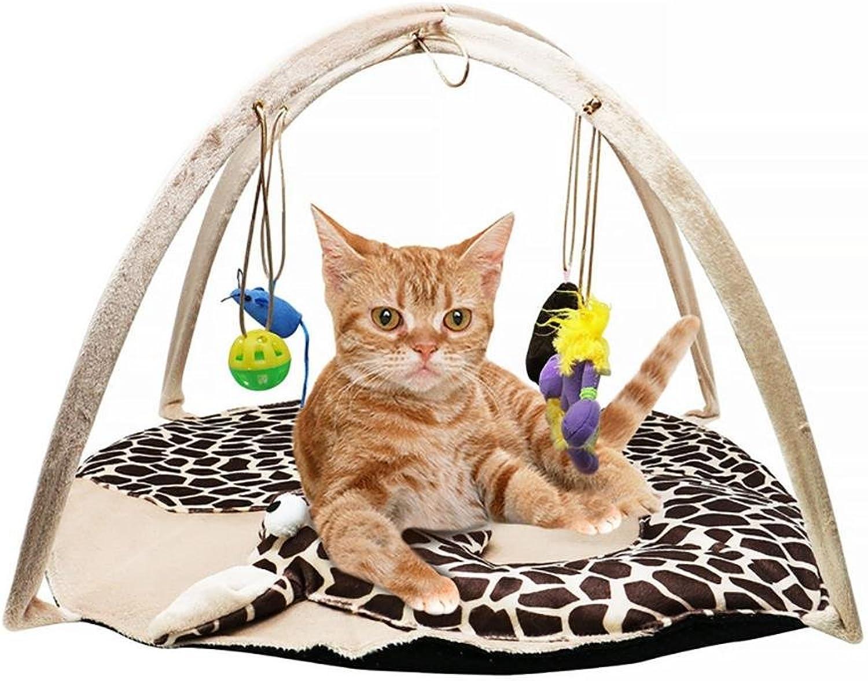 DIAMO Cat Play Mat, Cat Tent Activity Center with Hanging Toys