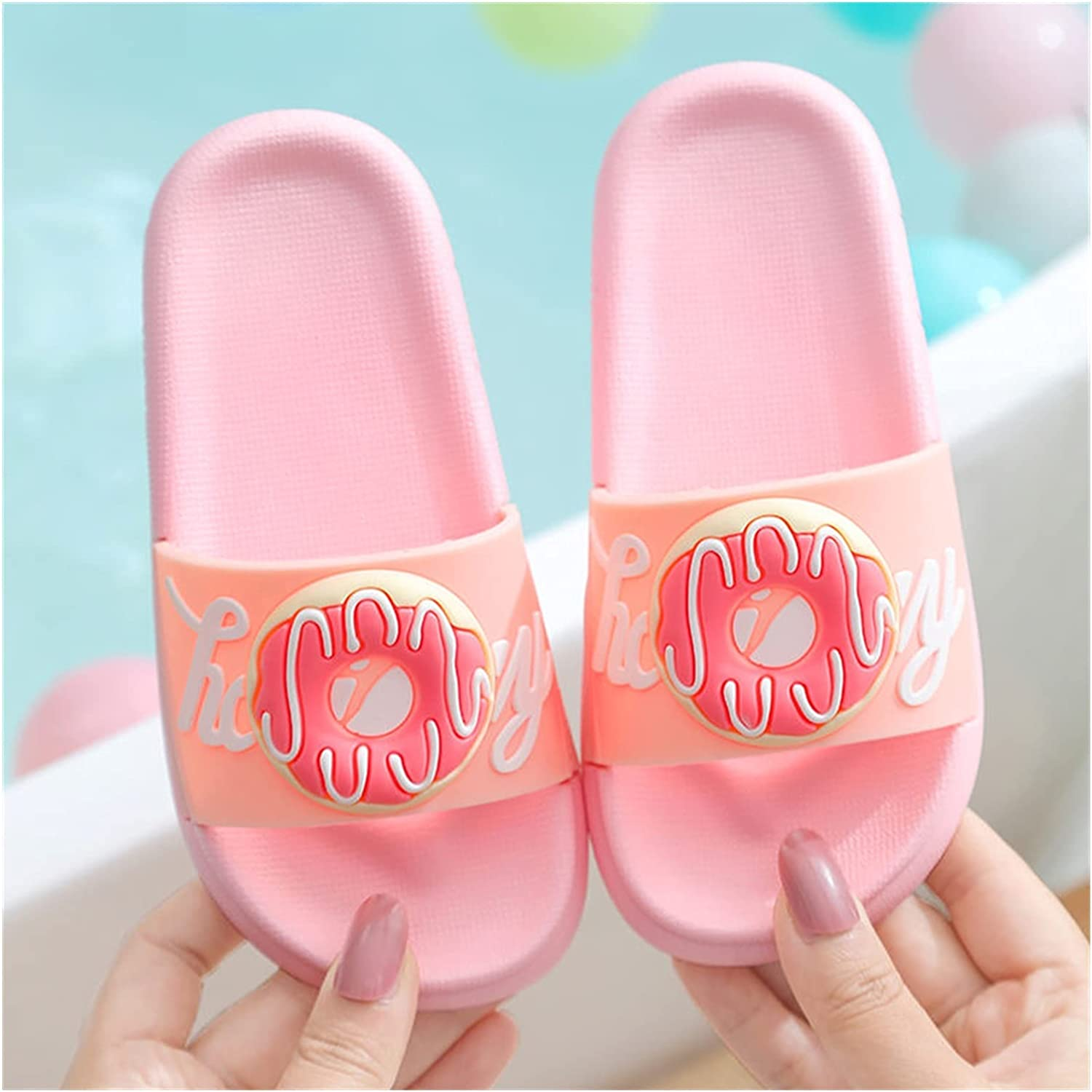 AIYISITELU Doughnut Slippers Kids 4 years warranty Summer Sa Shoes Beach Girl Don't miss the campaign Boy
