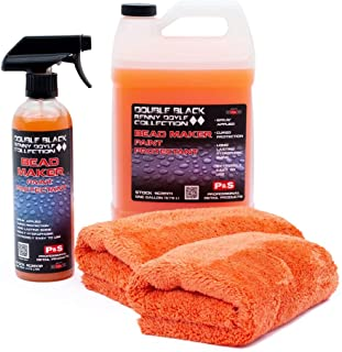 P&S Detailing Products C2501 + C250P Bead Maker Paint Protectant Combo Kit (1 Gallon + 1 Pint) with Bead Maker Ultimate Microfiber Towels from The RAG Company