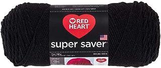 Red Heart Yarn Super Saver Yarn 312 Black