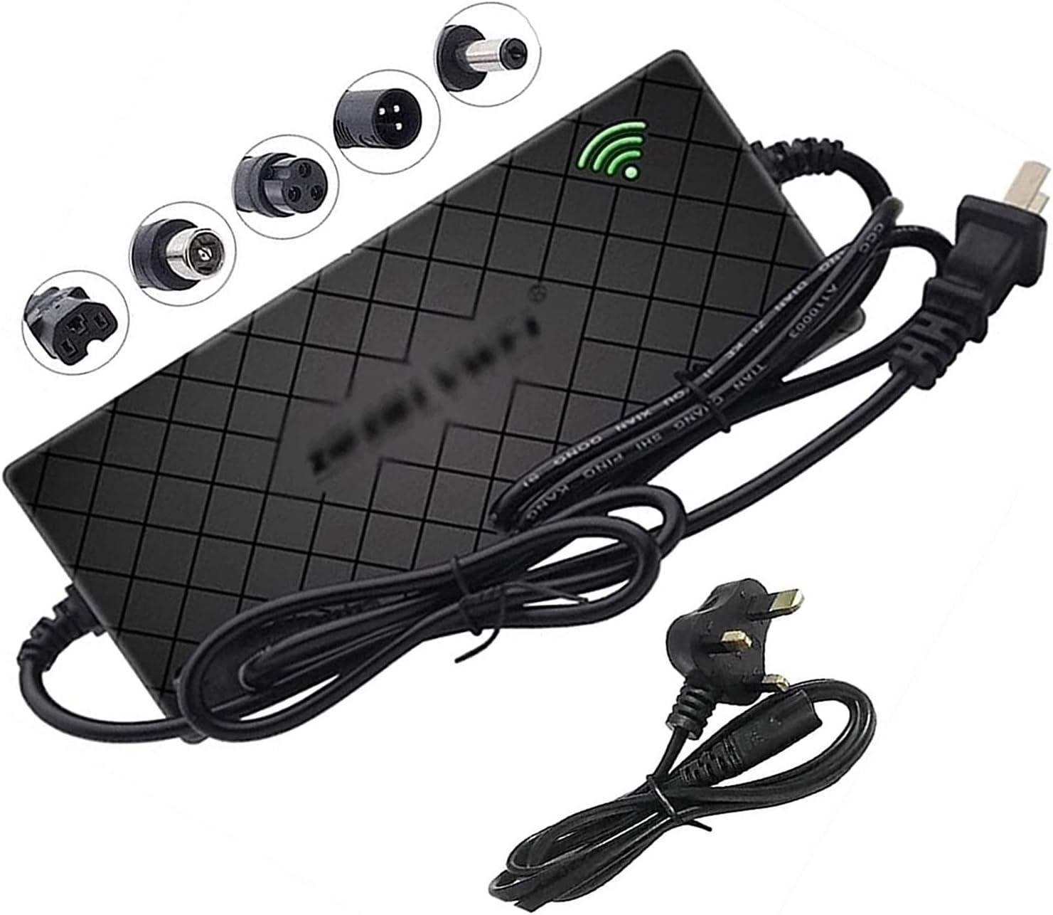 SKYWPOJU Cargador de batería de Litio de 24 V / 36 V / 48 V Salida de Carga 29,4 V 42 V 54,6 V 2A para baterías de Bicicleta eléctrica