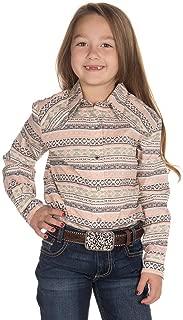 Cruel Girl Girls' Tribal Striped Long Sleeve Western Shirt - Ctw3220008