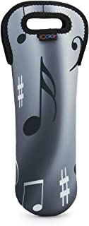iColor Neoprene Wine bag Soda Carrier Insulated beer bottle holder Wine Bottle Covers tote bag Champagne Beverages Containers Soft Drinks Water bottle tote,Baby Bottles (Music note)