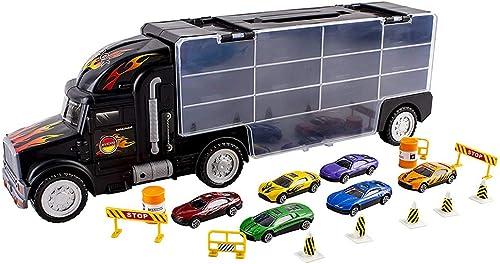 muchas sorpresas SLONG Niños y niñas Transporte transportista transportista transportista camión de Juguete (Incluyendo 6 Coches y 28 Ranuras) Modelo de Coche de aleación  ahorra hasta un 80%