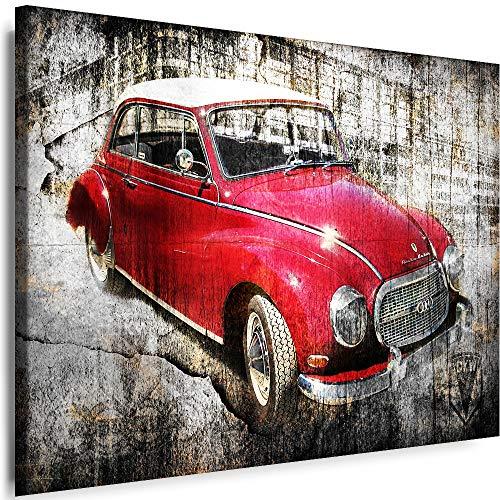 Myartstyle - Bilder Auto Audi DKW 80 x 60 cm Leinwandbilder XXL - 1 Teilige Wandbilder Kunstdrucke w-a-2024-90
