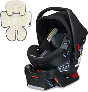 Britax B-Safe Ultra Infant Car Seat, Noir with Support Pillow Bundle