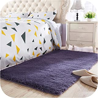 Top Selling Long Hair Thickened Washed Silk Hair Non-Slip Carpet Living Room Coffee Table Blanket Bedroom Rugs Bedside mat,6,40 x60cm