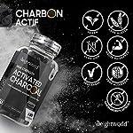 Charbon Actif Végétal 2000 mg 180 Gélules Vegan, Gaz et Ballonnement (EFSA), Testé en Laboratoire par Agrolab 100% Naturel, Charbon Végétal Poudre de Noix de Coco Extra Fort #3