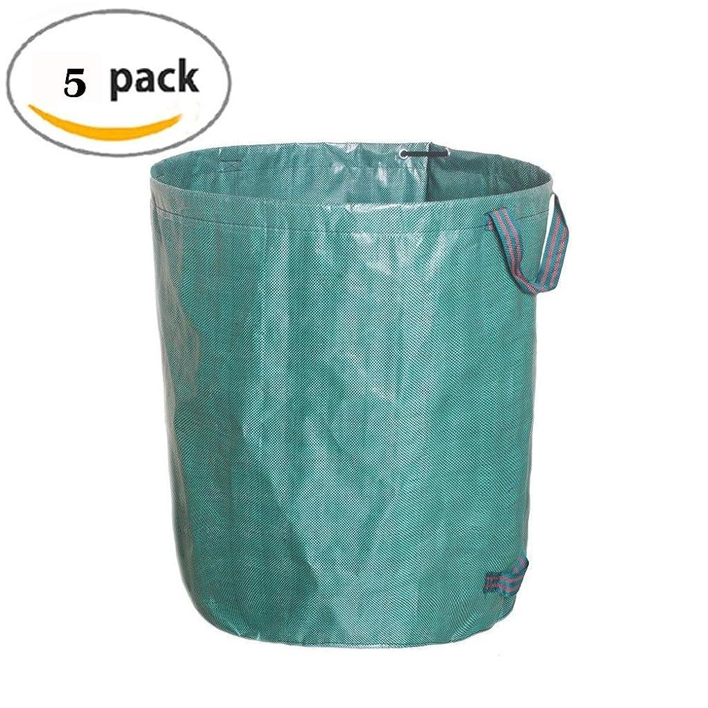 写真撮影高齢者離れたYLIAN 庭のゴミ袋 葉コレクションバッグガーデンバッグガーデンゴミバッグガーデン収納バッグガーデンゴミ箱自立型と折りたたみ式引き裂き抵抗ハンドル付き(5パック) (Size : 45x76cm)
