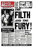 Unbekannt Sex Pistols Poster Daily Mirror