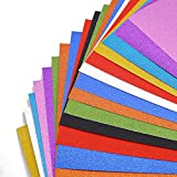 BigOtters Glitter Cardstock Paper, 20 Sheets Sparkly Paper Premium Craft Cardstock for Mother's Day DIY Gift Box Wrapping Birthday Party Decor Scrapbook, 10 Colors 250