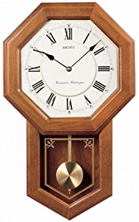 Best Seiko Light Oak Traditional Schoolhouse Wall Clock with Chime & Pendulum Review