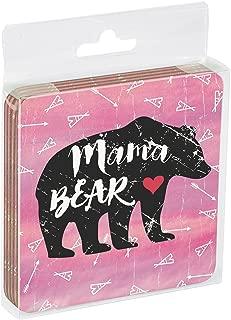 Tree-Free Greetings EC16044 EcoCoaster Set in Acrylic Box, Set of 4, Mama Bear Boho
