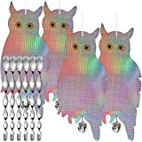 Dyvicl Bird Scare Owl - Fake Owl Hanging Reflective Owl...