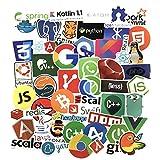 Sanmatic Autocollant Lot 50Pcs Stickers pour Ordinateur Portable langage Autocollant...
