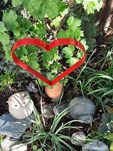 Gartendeko, Gartenstecker, Dekoration Garten, Garten Herz, Gartenstecker