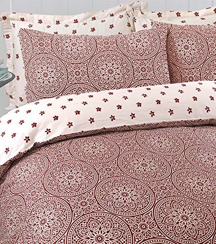 Linen Zone Posh Range Hotel Quality 100% Egyptian Cotton Reversible Duvet Cover Set (Julliet, King)