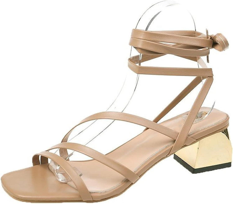 Summer Women Cross Choice Strap Open Toe Sandals trust Heel Chunky Breathable
