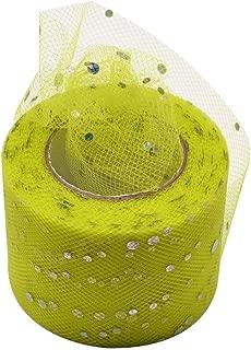 25 Yards 5cm Glitter Sequin Tulle Roll Spool Skirt Fabric Wedding Decoration Organza Crafts Birthday Party Supply,C30
