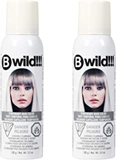 Jerome Russell B Wild!!! Temporary Hair Color Spray, Siberian White, 3.5 oz, 2-Pack