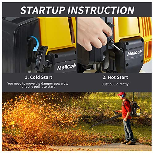 YOLENY 76cc, 4-Stroke Engine Gas Powered Backpack Leaf Blower, Adjust The Switch Freely, High Efficiency, Low Fuel Consumption, Low Pollution 750CFM